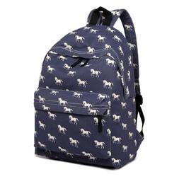 Unisex Satchel School Bag Canvas Shoulder Bag Rucksack Backp