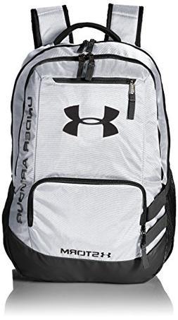 Under Armour Unisex Team Hustle Backpack, White /Black, One