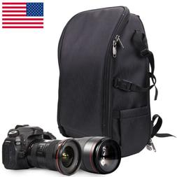 US Large Size Camera Backpack Bag Case for Canon Nikon Sony