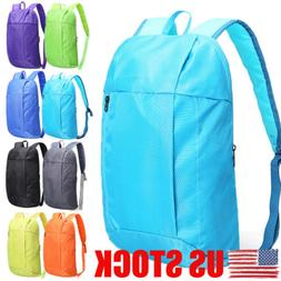 US Men Women Small backpack Bag Outdoor Sport Travel Shoulde