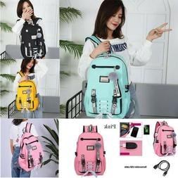 US usb school Large teenage for girls with backpack women lo