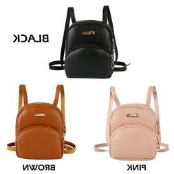 US Womens Backpack Travel Leather Handbag Small Rucksack Sho