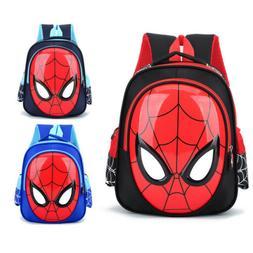 USA 3D Spiderman School Bag Backpack Three Colors Boys Kids