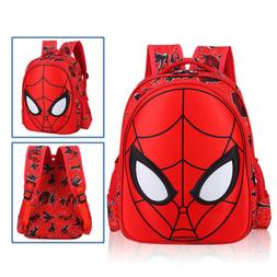 USA 3D Spiderman School Bag Backpack Three Size For Boys Kid