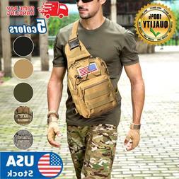 USA Men Backpack Tactical Sling Chest Bag Assault Pack Messe