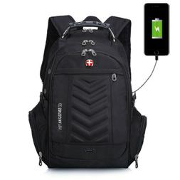 "USB 16"" Laptop Swiss Gear Backpack Waterproof Bussiness Tr"