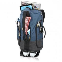 """SOLO VELOCITY BACKPACK DUFFEL 20"""" Blue Gray Laptop Compartme"""