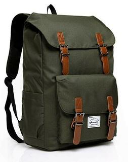 VASCHY Vintage Backpack for Men and Women Casual Water-resis