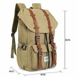 KAUKKO Vintage Backpack Outdoor Travel Hiking & Camping Ruck