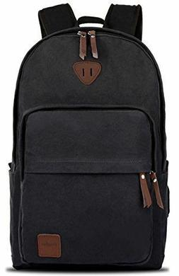 Ibagbar Vintage Canvas Backpack Rucksack Laptop Bag Computer