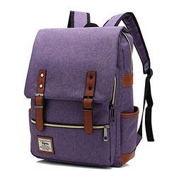 Canvas Backpack - Lightweight Laptop Backpack, Vintage Trave