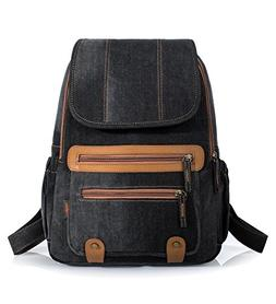 Leaper Vintage Denim School Backpack Laptop Bag Shoulder Bag