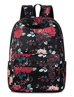 Leaper Vintage Floral School Backpack for Girls Large Colleg