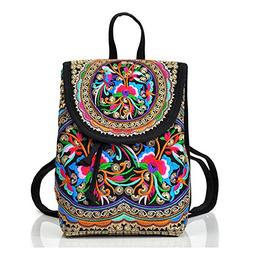 Goodhan Vintage Handmade Women Embroidery Ethnic Backpack Tr
