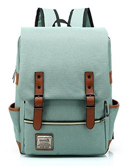 Kenox Vintage Laptop Backpack College Backpack School Bag Fi