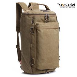 Vintage Men Travel Bag Large Capacity Travel Duffle Rucksack