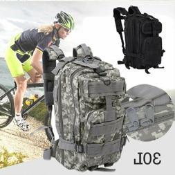 Vintage Mens Canvas Backpack Camping Travel Hiking Bag Sport