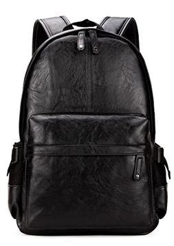 Kenox Vintage PU Leather Backpack School College Bookbag Lap