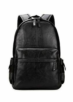 e69a8b86f3 Kenox Vintage PU Leather Backpack School College Bookbag Lap