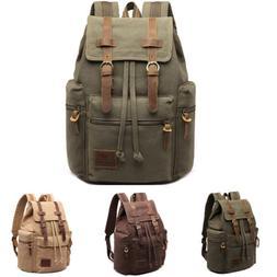 Vintage Retro Canvas Backpack Travel Sport Rucksack Satchel