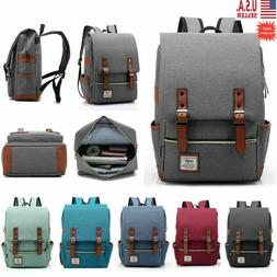 Vintage Retro Canvas Backpack Travel Sport Rucksack Satchel