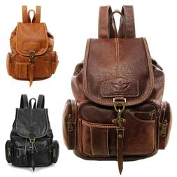 vintage women backpack leather travel hand shoulder