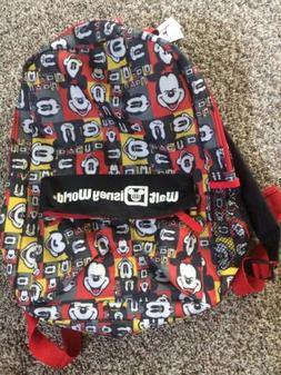 walt world backpack mickey mouse faces theme