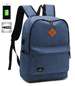 Quicksilk Water Resistant School Backpack with USB Charging