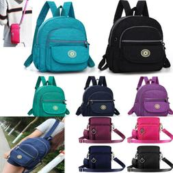 Waterproof Backpack Rucksack Travel School Bag Zip Mini Cros