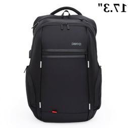 Waterproof Men Notebook 17.3 inch Laptop Backpack USB Charge