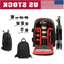 Waterproof SLR DSLR Camera Bag Shockproof Case Backpack Bag
