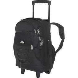 Everest Wheeled Backpack with Bungee Cord 8 Colors Rolling B