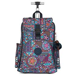 Kipling Women's Alcatraz Ii Printed Rolling Laptop Backpack