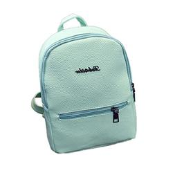 Creazrise Women Backpack,Girls Solid Color Leather Backpack