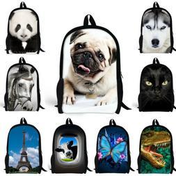 Women Backpack Galaxy Animal Rucksack Satchel School Bag Tee