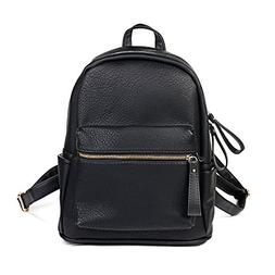Women Backpack Purse PU Leather Simple Design Casual Daypack