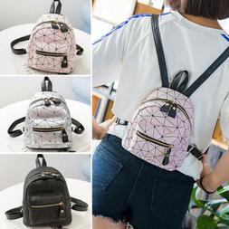 Women Backpack Travel PU Handbag Girls Rucksack Mini Shoulde