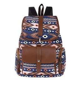 Vbiger Women Canvas Backpack Drawstring School Backpacks Cas
