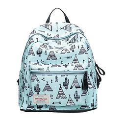 Vbiger Women Canvas Backpack Fashionable School Shoulders Ba
