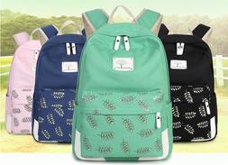 Women Canvas Girl's Shoulder School Bag Backpack Travel Satc