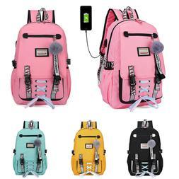 women canvas girls school bag backpack waterproof