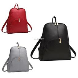 Women Chic Backpack Synthetic Leather Backpacks Softback Bag