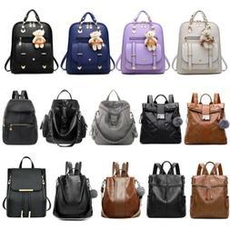 Women Girl Backpack PU Leather Satchel Lady Shoulder Bag Tra