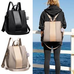 Women Ladies Anti-theft Backpack Nylon School Travel Shoulde