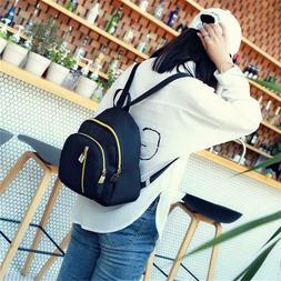 Women Mini Backpack Nylon Shoulder School Travel Bag Small C