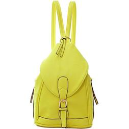 Dasein Women's Mini Faux Leather Convertible Backpack Purse