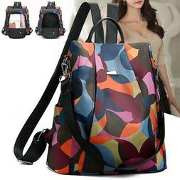Women Oxford Backpack Anti-theft Daypack Casual Travel Backp