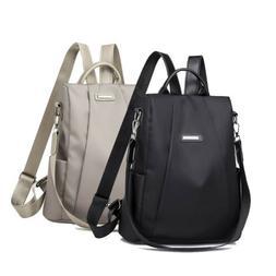 Women Oxford Cloth Travel Backpack Nylon Anti-theft Shoulder