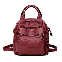 JOSEKO Women PU Soft Multifunction Bags Leisure Handbags Lar