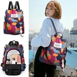 Women Purse Backpack Anti-Theft Rucksack Waterproof Nylon Li